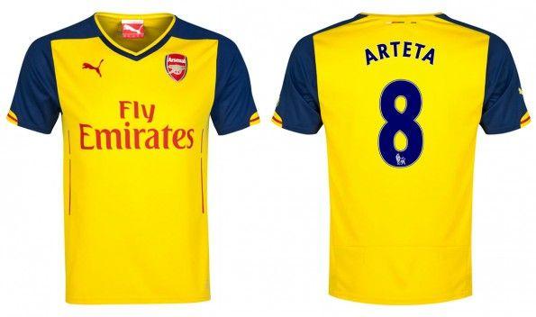 Seconda maglia Arsenal 2014-2015