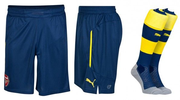 Arsenal pantaloncini calzettoni away 2014-2015