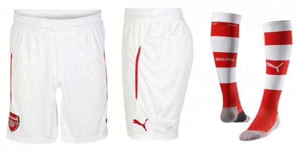 Pantaloncini calzettoni Arsenal home 2014-15