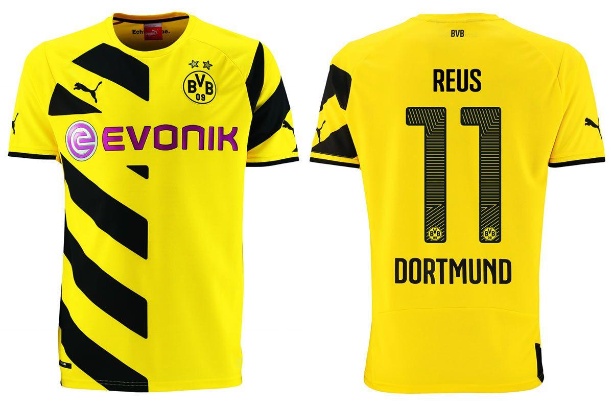 Maglie Borussia Dortmund 2014-2015, strisce diagonali a metà