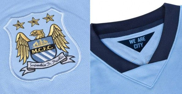 Colletto stemma Manchester City 2014-15