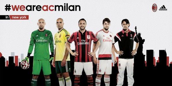 Collezione maglie Milan gara 2014-2015 adidas