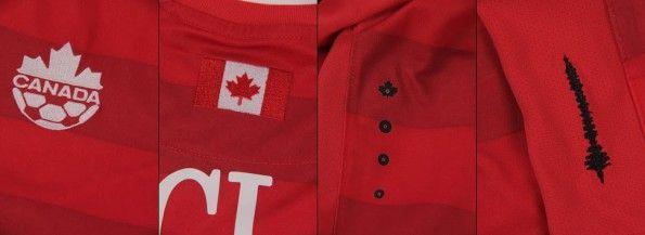 Dettagli prima maglia Canada 2014-2015