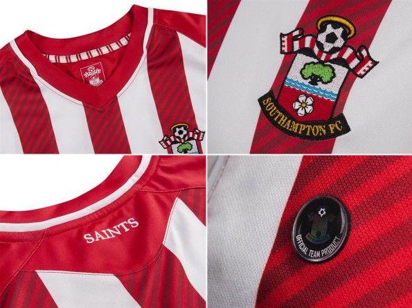 Dettagli prima maglia Southampton 2014-15