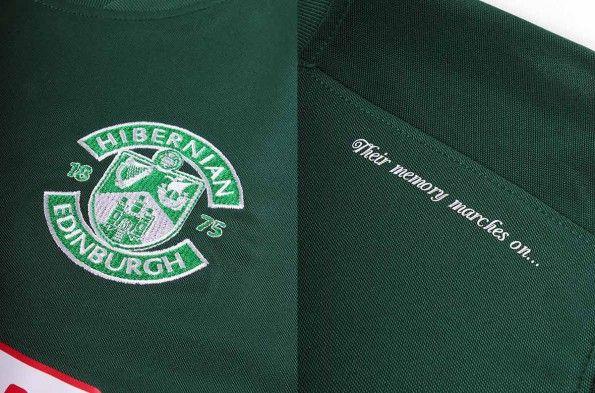 Dettaglio prima maglia Hibernian 2014-15