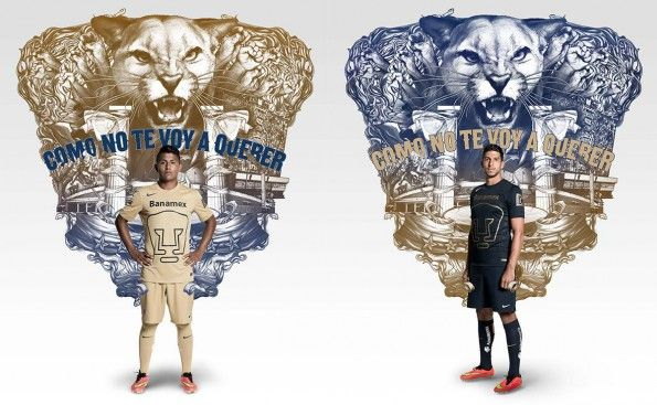 Pumas Unam, maglie Nike 2014-2015