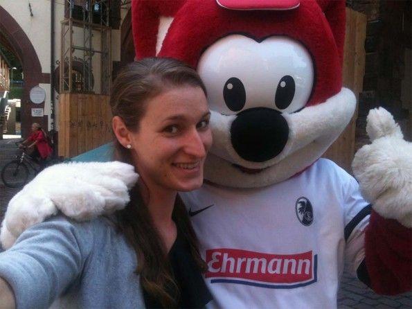 Selfie mascotte Friburgo 2014
