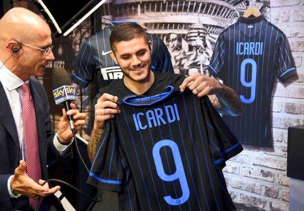 Icardi con la maglia dell'Inter 2014-2015