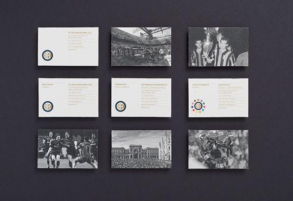 Cartoline Inter con il nuovo logo e lettering