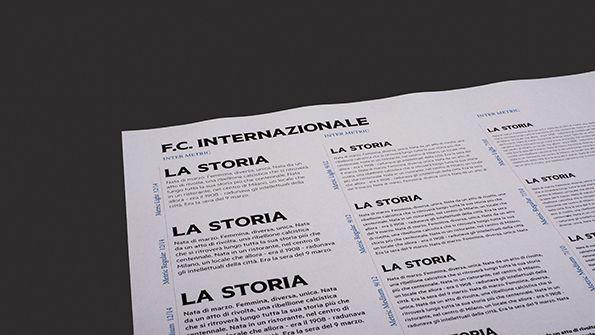 Lettering Inter su esempi tipografici