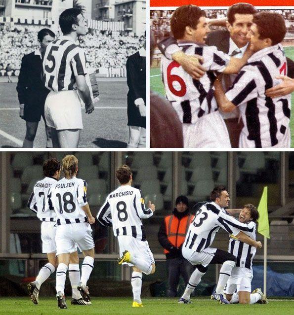 Juventus, numeri rossi, quadrati bianchi