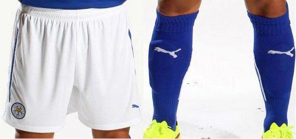 Leicester pantaloncini calzettoni 2014-15 home