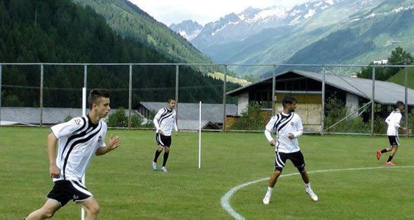 Lugano allenamento con materiale Acerbis