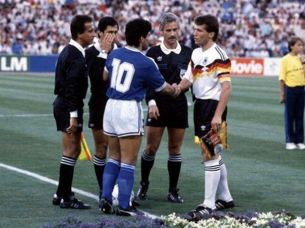 Maradona e Matthaus finale italia 90