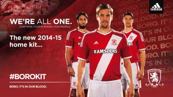 Maglia home Middlesbrough fc 2014-2015
