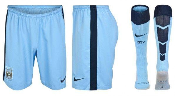 Manchester City pantaloncini calzettoni 2014-15 home