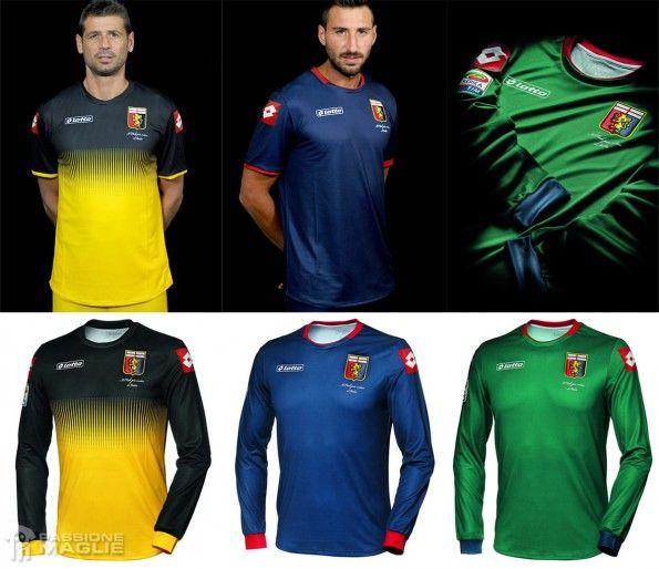 Maglie portiere Genoa giallo-blu-verde 2014-2015