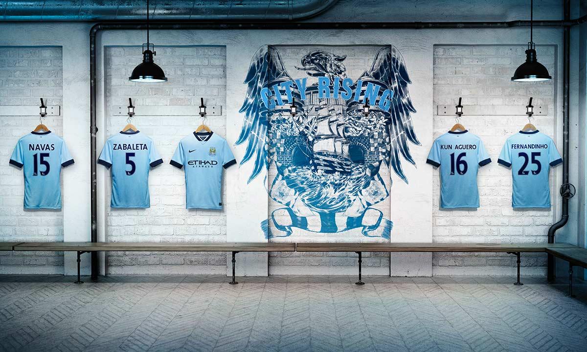 Presentazione maglie Manchester City 2014-15