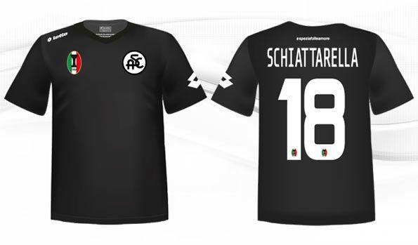 Seconda maglia Spezia 2014-15 nera