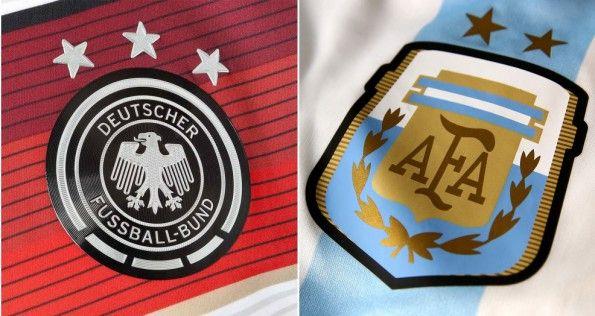 Stemmi di Germania ed Argentina sulle maglie 2014