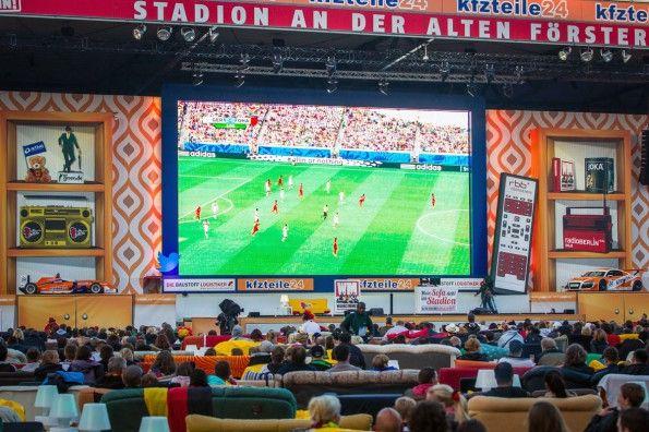 Union Berlin, mondiali 2014, maxischermo