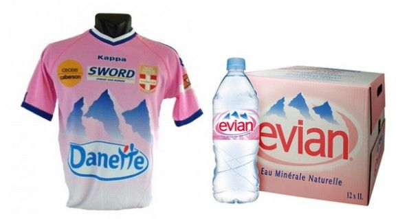 Evian TG maglia bottiglia