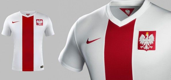 Maglia Polonia 2014-2015 Nike home