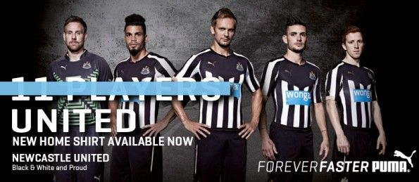 Newcastle kit home 2014-2015 Puma