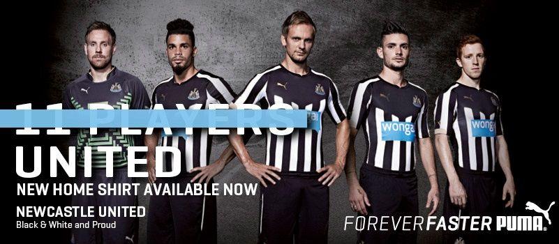 Newcastle kit home 2014-2015 Puma