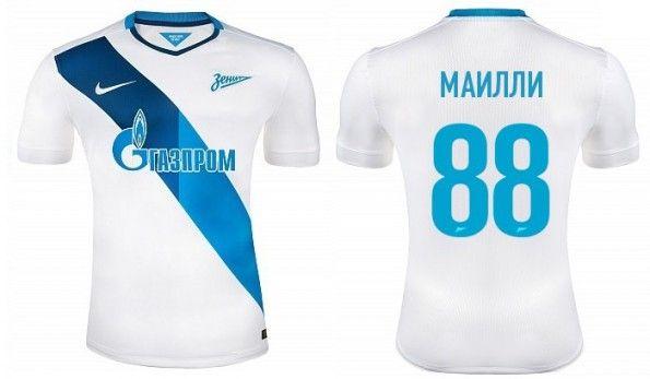 Maglia trasferta Zenit 2014-2015 Nike