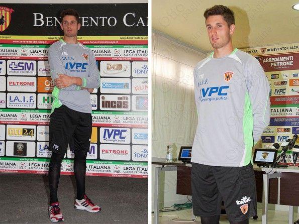 Maglia portiere Benevento 2014-2015 grigia