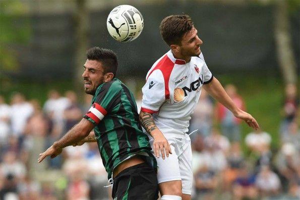 Il pallone della Serie B in Bologna-Sassuolo
