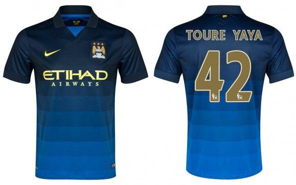 Seconda maglia Manchester City 2014-2015 Yaya Tourè