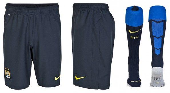 Manchester City pantaloncini calze away 2014-15