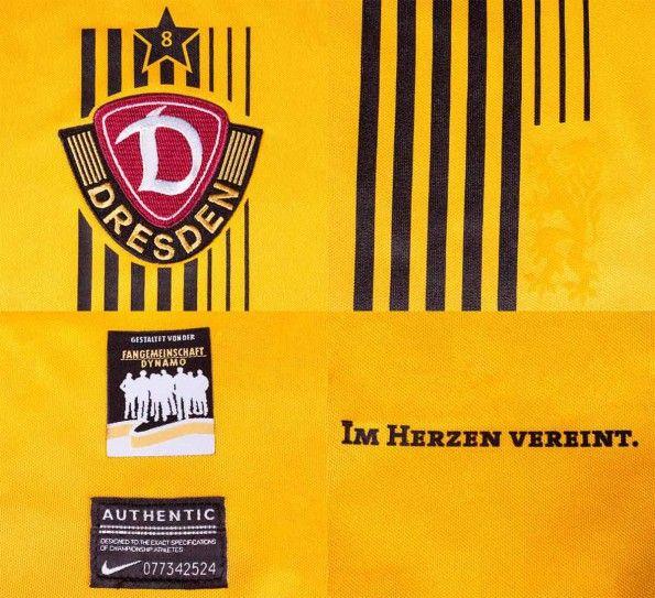 Dettagli maglia Dinamo Dresda 2014-15 home