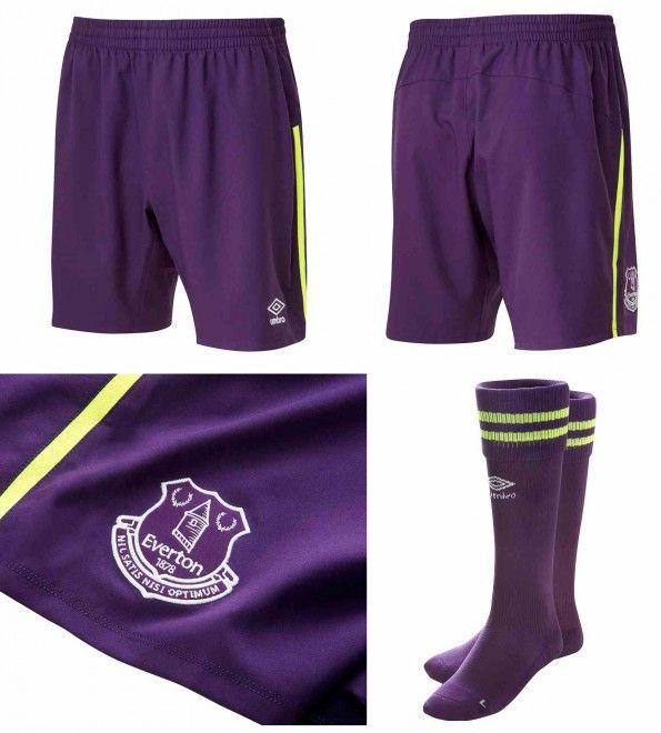 Everton pantaloncini calzettoni viola 2014-15