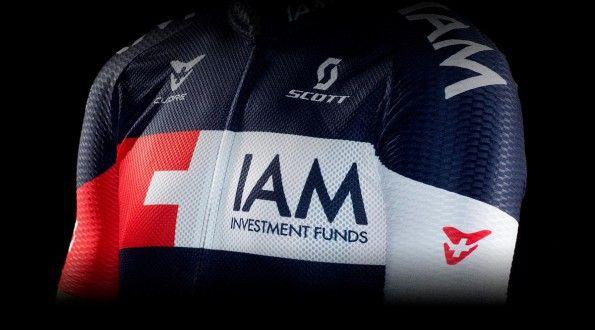 IAM Cycling 2014, maglia original, tessuto, dettaglio