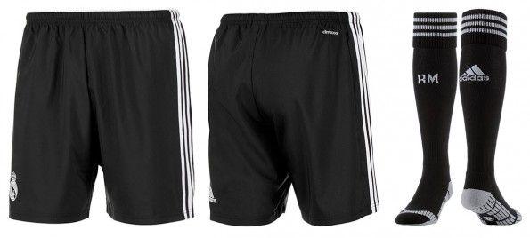 Pantaloncini calzettoni neri Real Madrid 2014-15