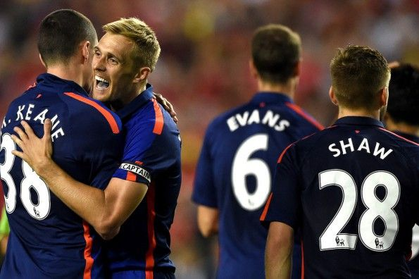 Font nome numeri bianchi terza maglia Manchester United 2014-15
