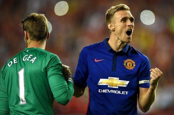Manchester United maglia blu trasferta 2014-15