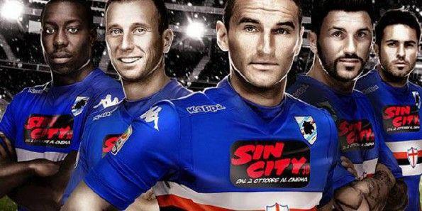 Sin City 3D sulle maglie della Sampdoria
