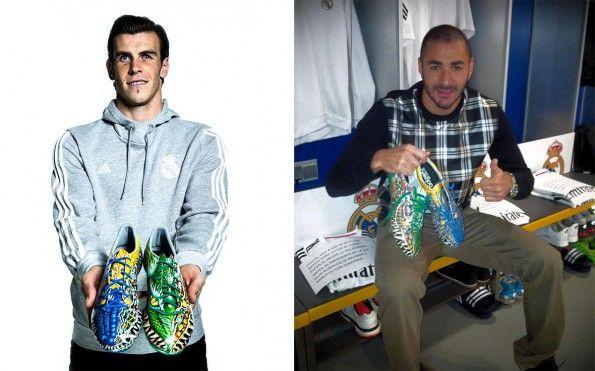 Bale e Benzema scarpini F50 Yamamoto