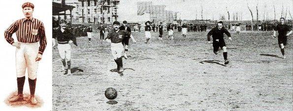 Herbert Kilpin in un'azione di gioco