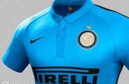 Inter terza maglia azzurra 2014-2015