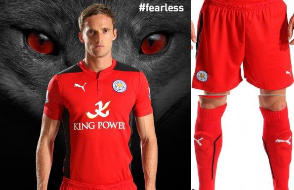 Maglia away Leicester City rossa 2014-2015