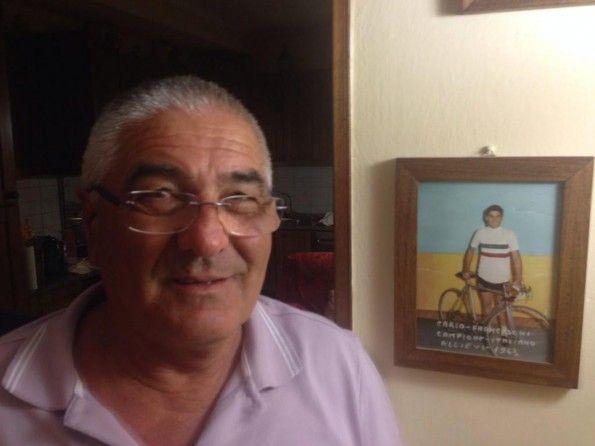 Carlo Franceschi, campione italiano Allievi 1963, maglia tricolore