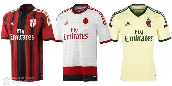 Maglie Milan 2014-2015 adidas