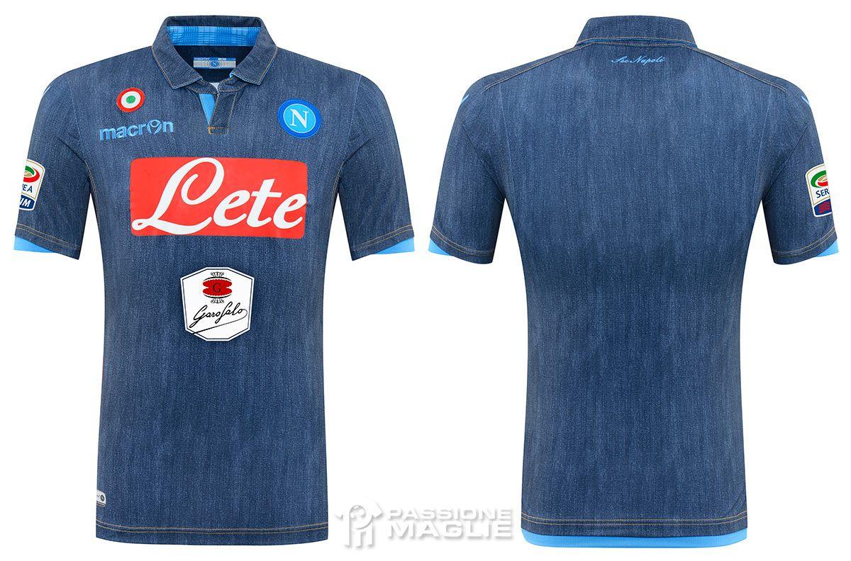 Seconda maglia Napoli 2014-2015 jeans