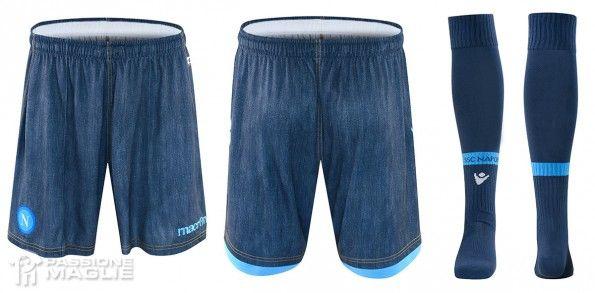 Napoli pantaloncini calzettoni jeans 2014-2015
