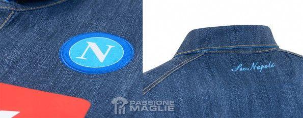 Dettagli maglia Napoli jeans away 2014-15